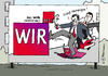 Cartoon: das WIR der SPD (small) by Pfohlmann tagged karikatur,cartoon,color,farbe,2013,deutschland,spd,kampagne,müntefering,bundestagswahl,plakat,kritik,wahlkampf,bundestagswahlkampf,plakatwand,steinmeier,gabriel