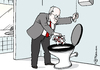 Cartoon: Gysi Kloaffäre (small) by Pfohlmann tagged karikatur,cartoon,2014,color,farbe,deutschland,gysi,linkspartei,linke,klo,toilette,bundestag,affäre,toilettengate,wc,israel,israelkritik,israelkritiker,verfolgung,konflikt,streit,kloschüssel