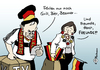 Cartoon: Köhlers WM-Party (small) by Pfohlmann tagged köhler,bundespräsident,horst,rücktritt,eva,wm,fußball,fußballweltmeisterschaft,freunde,fußballfan,deutschland,deutschlandfahne,grillfest,public,viewing
