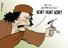 Cartoon: Revolutionär (small) by Pfohlmann tagged libyen,gaddafi,revolution,revolutionär,aufstand,aufständische,rebellion,rebellen,ich,herrscher,diktator,staatschef