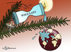 Cartoon: Wikiwachs (small) by Pfohlmann tagged wikileaks weihnachten globus welt weltkugel christbaum weihnachtsbaum logo kerze tanne tannenbaum