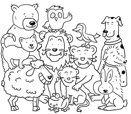 Ausmalbild Tiere Von Sabine Voigt Natur Cartoon Toonpool