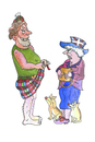 Cartoon: schotte schottland queen (small) by sabine voigt tagged schotte,schottland,queen,abstimmung,unabhängigkeit