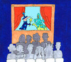 Cartoon: theater kasperle kindergarten (small) by sabine voigt tagged theater,kasperle,kindergarten,grundschule,kind,kleinkind,märchen