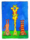 Cartoon: yoga meditation (small) by sabine voigt tagged yoga,meditation,entspannung,asana,kopfstand