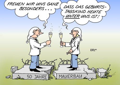 5o Jahre Mauerbau Von Erl Politik Cartoon Toonpool
