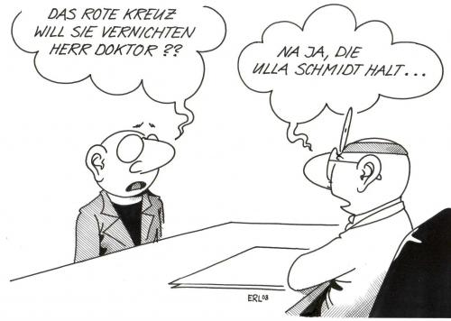 Cartoon ärzte medium by erl tagged ärzte gesundheitsreform ulla
