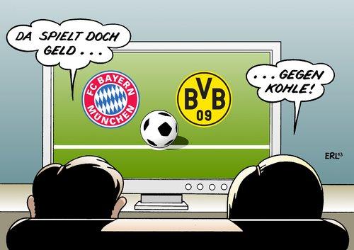 Bayern Gegen Dortmund Von Erl Politik Cartoon Toonpool