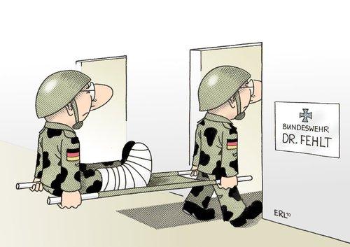 Bundeswehr von Erl | Politik Cartoon | TOONPOOL | {Arzt bundeswehr 57}