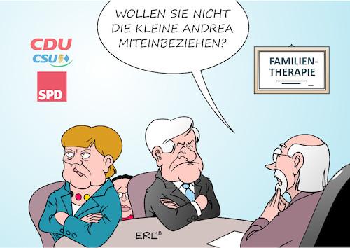 Familientherapie von Erl - Politik Cartoon - TOONPOOL