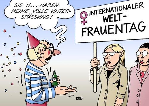 Frauentag Von Erl Politik Cartoon Toonpool