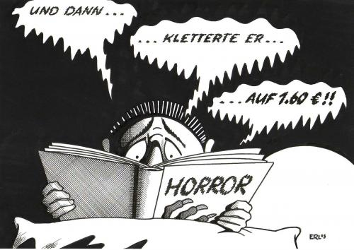 Cartoon: Horror (medium) by Erl tagged benzinpreis,horror,roman,benzinpreis,horror,roman,öl,auto,unbezahlbar,grauen,tankstelle,zapfsäule,tanken,urlaub,wirtschaft,rohstoff,energie,antrieb