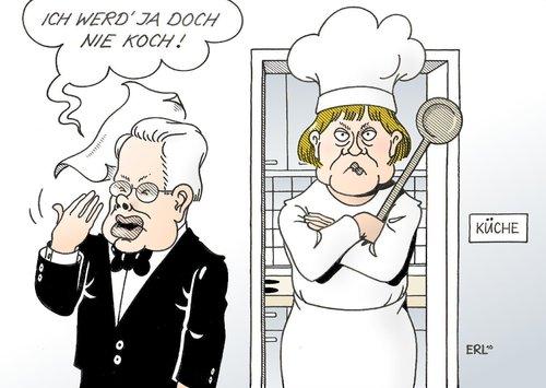Koch und kellner von erl politik cartoon toonpool for Koch und kellner