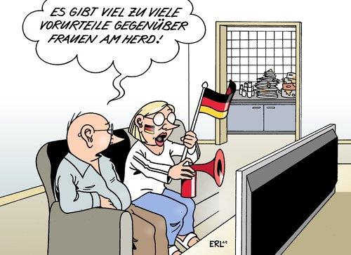 Männer Fußball Frauen von Erl   Politik Cartoon   TOONPOOL
