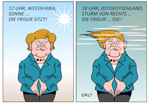 Merkels Frisur Von Erl Politik Cartoon Toonpool