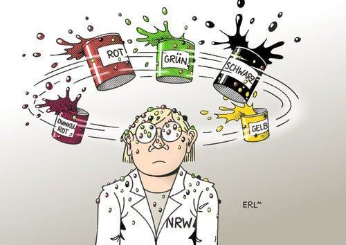 NRW-Farben von Erl | Politik Cartoon | TOONPOOL