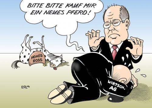 Finanzhilfen arroganz bittsteller steinbrück cartoon cartoons