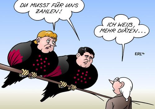 Rabeneltern Von Erl Politik Cartoon Toonpool