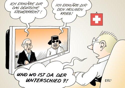 Schweiz Von Erl Politik Cartoon Toonpool