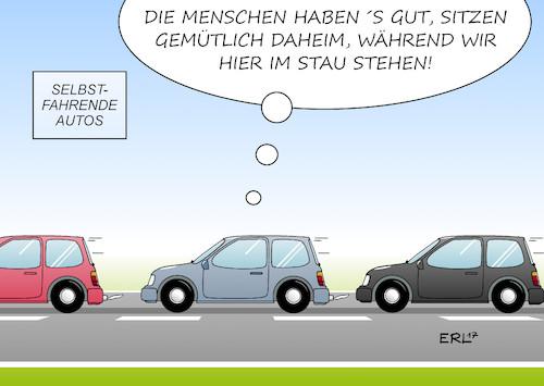 Selbstfahrende Autos Von Erl Politik Cartoon Toonpool