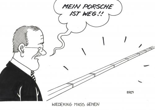 Cartoon: Wiedeking muss gehen (medium) by Erl tagged wiedeking,wendelin,porsche,vorstand,vorsitzender,wiedeking,wendelin,porsche,vorstand,vorsitzender,autoindustrie,industrie,autos