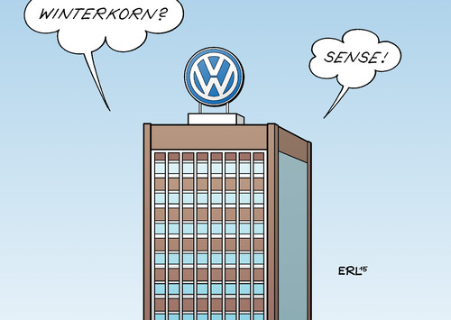 Cartoon: Winterkorn 1 (medium) by Erl tagged vw,volkswagen,autobauer,auto,diesel,usa,abgaswerte,manipulation,betrug,martin,winterkorn,absatzmarkt,abgastest,prüfung,prüflabor,labor,software,gau,supergau,sturz,rücktritt,sense,unklarheit,karikatur,erl,vw,volkswagen,autobauer,auto,diesel,usa,abgaswerte,manipulation,betrug,martin,winterkorn,absatzmarkt,abgastest,prüfung,prüflabor,labor,software,gau,supergau,sturz,rücktritt,sense,unklarheit,karikatur,erl
