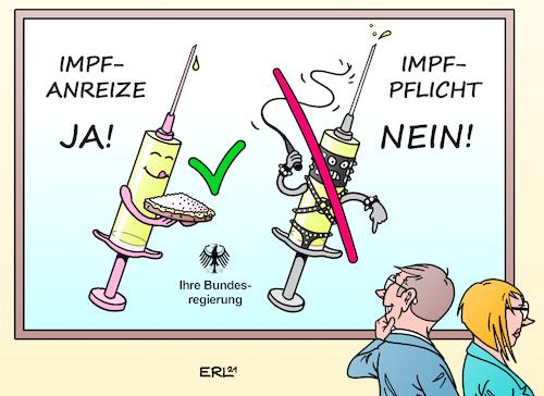 Karikatur peitsche zuckerbrot und Zuckerbrot und