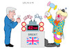 Cartoon: EU Brexit (small) by Erl tagged politik,brexit,großbritannien,eu,boris,johnson,jean,claude,juncker,zeitbombe,entschärfung,clown,karikatur,erl