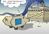 Cartoon: Institutionen (small) by Erl tagged griechenland,schulden,krise,hilfe,kredit,eu,ezb,iwf,troika,sparkurs,regierung,tsipras,varoufakis,ablehnung,name,institutionen,etikett,trojanisches,sparschwein,akropolis