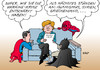 Cartoon: Superhelden unter sich (small) by Erl tagged angela,merkel,diplomatie,ukraine,krise,krieg,ostukraine,entschärfen,heldin,superheld,superman,batman,spiderman,agenda,islamismus,syrien,griechenland,schulden,euro,banken,finanzen,karikatur,erl