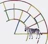 Cartoon: zzz-xebra (small) by robobenito tagged zebra animal stripes color rainbow spectrum mammal fantasy dream clockwork structure surreal environment science fiction ink pencil colors animals horse arch planet