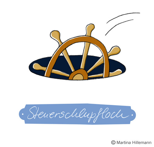 Cartoon: Steuerschlupfloch (medium) by Martina Hillemann tagged loch,fallen,wortwitz,lenken,wort,steuer