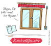 Cartoon: Kontrollfenster (small) by Martina Hillemann tagged sprache,wort,fenster,papier,kontrolle,vorhang,etikett