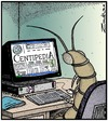 Cartoon: Research (small) by Tony Zuvela tagged centipede,arthropod,legs,researching,internet,www,websites,centipedia,favourite,pc,computer