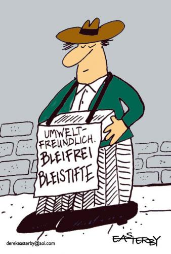 Cartoon: Bleifrei Bleistifte (medium) by EASTERBY tagged salesman,oko