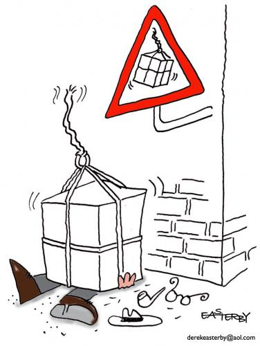 Cartoon: Mind your...too late (medium) by EASTERBY tagged streetsigns,warnings