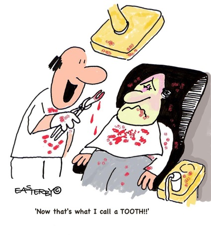 Cartoon: Supertooth (medium) by EASTERBY tagged dentists,toothpulling,badteeth