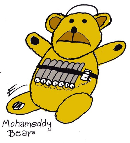 Cartoon: Teddy Explosive Bear (medium) by EASTERBY tagged islam,terrorists,terror