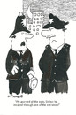 Cartoon: exits and entrances (small) by EASTERBY tagged police,watching,waiting