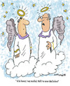 Cartoon: First Time (small) by EASTERBY tagged angels,heaven,death,dying
