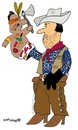 Cartoon: Glove Puppet Cowboy (small) by EASTERBY tagged cowboy,toys