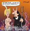 Cartoon: Herr Teufel (small) by EASTERBY tagged devil,hellfire,young,lady