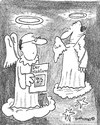 Cartoon: Jehovas Engel (small) by EASTERBY tagged angels,heaven,jehovas,witnesses