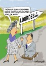 Cartoon: Lourdes (small) by EASTERBY tagged lourdes miracles cures