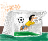 Cartoon: own goal (small) by EASTERBY tagged football,goalkeepers