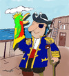 Cartoon: Pirate and Parrot glove puppet (small) by EASTERBY tagged pirates,toys