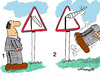 Cartoon: Road Signs 6 (small) by EASTERBY tagged road,works,signs