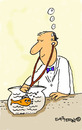 Cartoon: Vet and Fish (small) by EASTERBY tagged goldfish veterinary surgeon