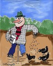 Cartoon: Your friendly scarecrow (small) by EASTERBY tagged agriculture,scarecrows