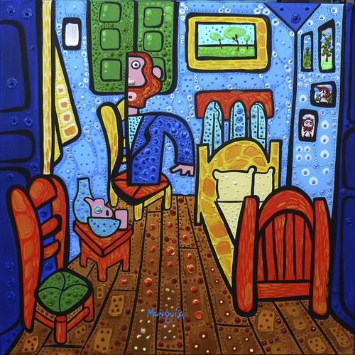 el cuarto de Van Gogh von Munguia | Berühmte Personen Cartoon | TOONPOOL